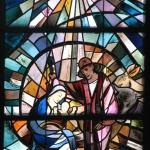 Kirche Bernloch Fenster Geburt Jesu
